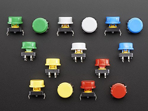 Adafruit Colorful Round Tactile Button Switch Assortment -