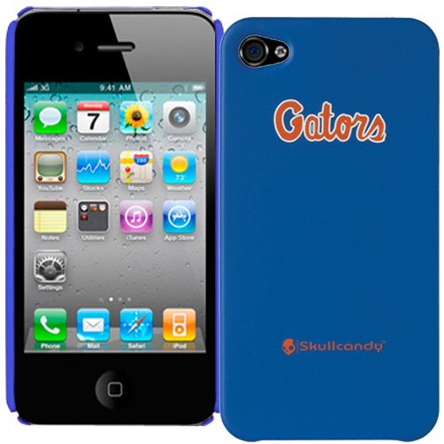 Skullcandy iPhone4 NCAA Snap-On Case Florida Gators - 1 Pack - Retail Packaging - Blue ()