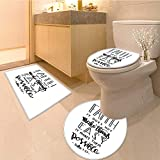 Miki Da Soft Toilet Rug 3 Pieces Set faith does not make things easy it makes them possible bible Customized Super Soft Plush
