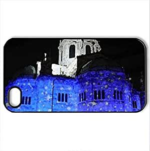 Beautiful Night - Case Cover for iPhone 4 and 4s (Religious Series, Watercolor style, Black)
