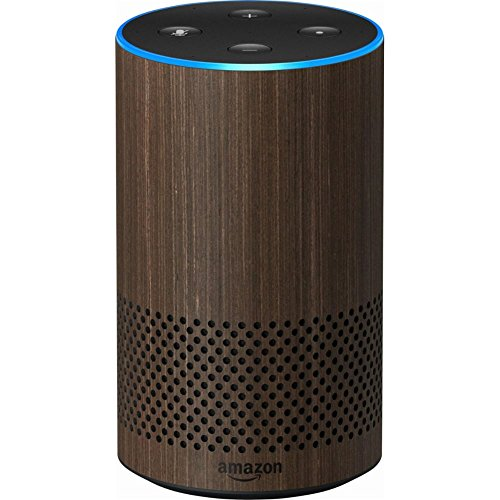 Echo  2Nd Generation  With Improved Sound  Powered By Dolby  And A New Design   Walnut Finish