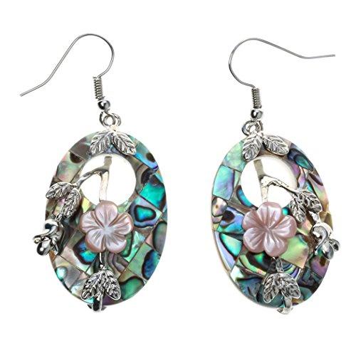 Flowers Shell Earrings (YACQ Jewelry Women's Sea Shell Flower Drops Dangle Earrings)