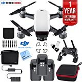 PC Hardware : DJI SPARK Fly More Drone Comboe (Alpine White) Essentials Bundle With Three Batteries, 16GB Flash Drive, Custom Hard Case, Cleaning Cloth And One Year Warranty Extension