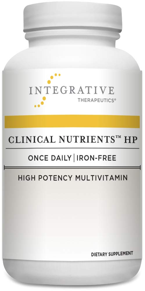 Integrative Therapeutics - Clinical Nutrients™ HP - Once-Daily, Iron Free, High Potency Multivitamin - Vitamin K2, Methylfolate, Micronutrients, Antioxidant Vitamins for Men and Women - 60 Capsules