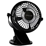 OPOLAR F801 Personal Cooling Clip-On-Fan,2 Speeds USB Powered Quiet Operation, 360 Degree Free Angle Adjustable, For Office, Home, Dorm Using