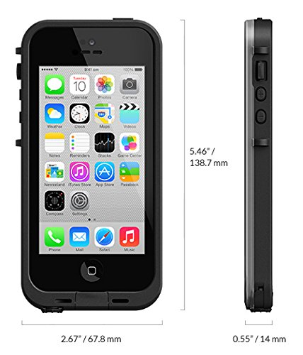 Lifeproof LP-2001-01 Fre Waterproof Case for iPhone 5C (Black/Clear)