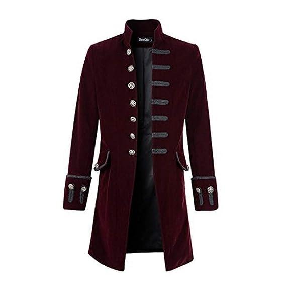 Traje de Fiesta, Uniforme y Vestido Largo gótico de Color sólido para Hombre de otoño e Invierno de Internet: Amazon.es: Ropa y accesorios