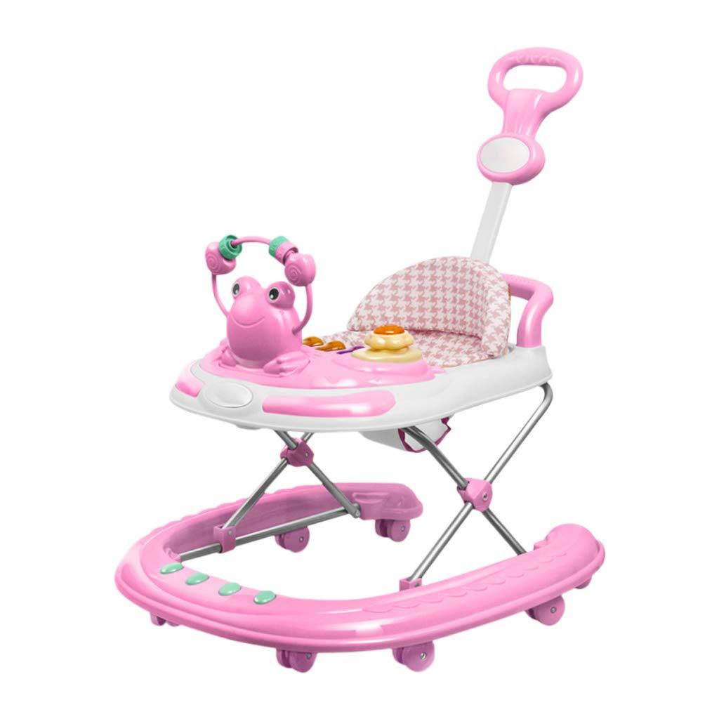 【破格値下げ】 HUYP ベビーウォーカー折りたたみ男の子女の子子供プッシュすることができますベビーウォーカー学習者8ヶ月 - 2歳の椅子 (色 : Pink A) 2歳の椅子 Pink Pink Pink A B07NQCKKTF, 布団枕マットレス通販ふかふか:b31f15aa --- arianechie.dominiotemporario.com