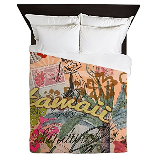 CafePress Colorful Hawaiian Tropical Comforter