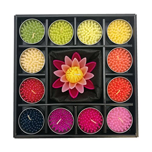 Water lily flower floating candles ()