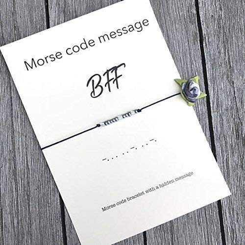 BFF Morse Code Bracelet Birthday Gift For Friend Bff Best Forever Friendship