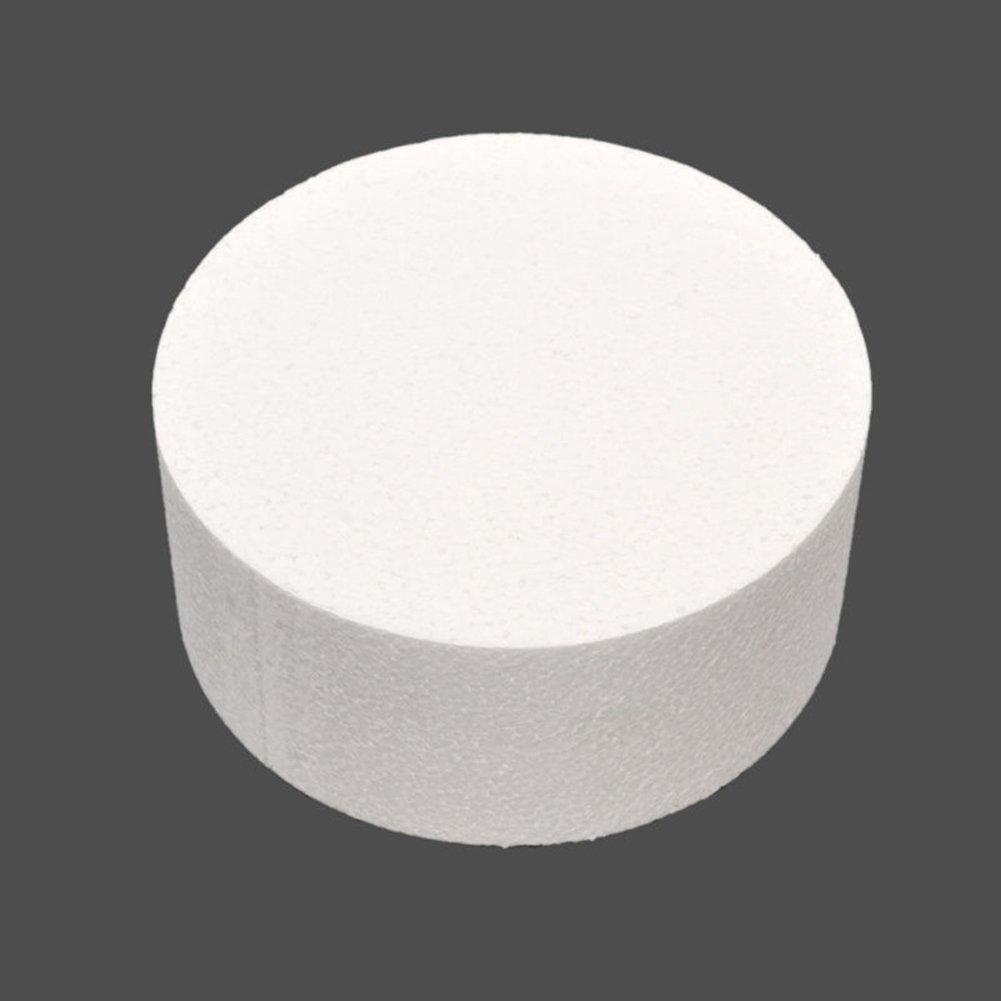 Bluelans Round Styrofoam Cake Dummy 4''/ 6''/ 8'' (6 inch) by Bluelans (Image #1)