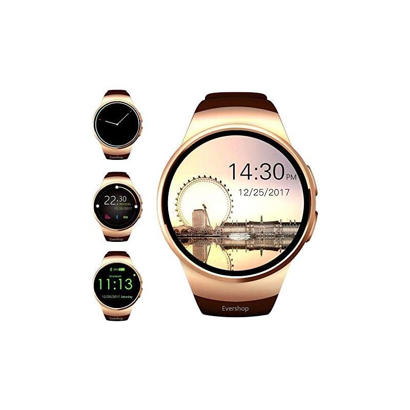 Smart Watch,Evershop 1.5 inches IPS Roun