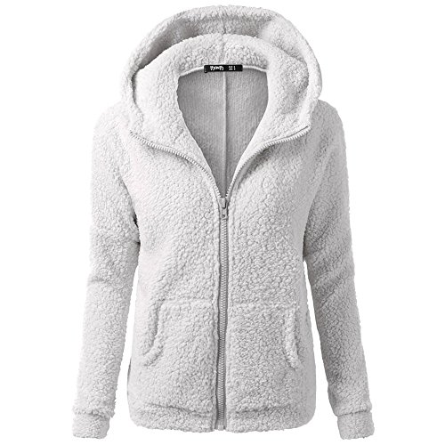 [해외]Idgreatim Womens 플러시 자켓 Full Zip Casual Hoodie Coat 사이드 포켓 ??포함/Idgreatim Womens Plush Jacket Full Zip Casual Hoodie Coat With Side Pockets