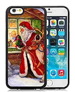 2014 Latest iPhone 6 Case,Merry Christmas Black iPhone 6 4.7 Inch TPU Case 59