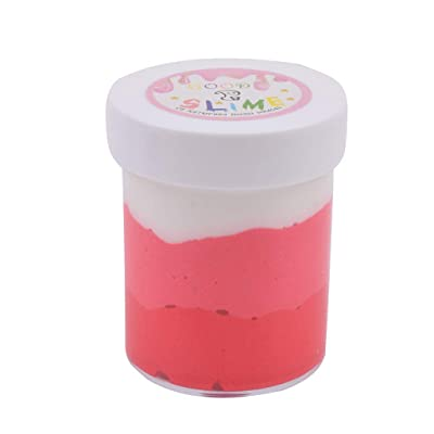 120ML Fluffy Cloud Slime Scented Putty Cotton Candy Slime Supplies Stress Red: Clothing