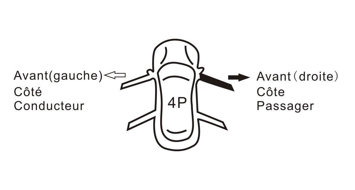 CQX Compatible Leve VITRE Electrique Avant Droit pour VW TOURAN 1T1837462=4Portes