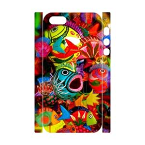 Colorful fish 3D-Printed ZLB608456 DIY 3D Cover Case for Iphone 5,5S