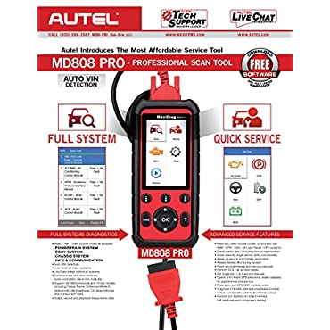 Autel MaxiDiag  MD808 Pro Diagnostic OBDII Scanner