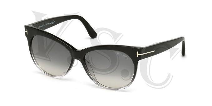 8d3f5d8b6711d Tom Ford Saskia Tf330 Sunglasses Ft 330 Authentic Cat Eye Glasses 05b Smoke  Grad