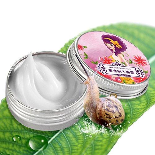 Gold Snail Facial Cream Reduce Acne Scars Dark Circles Moisturizing Whitening Cream 30g