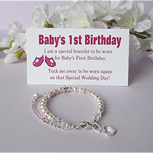 Babys 1st birthday gifts amazon babys 1st birthday gift bracelet baby to bride growing with baby negle Images