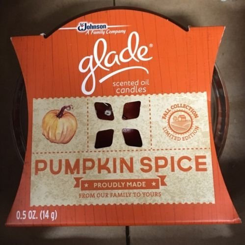 SC Johnson: A Family Company - Glade Scented Oil Candle - Pumpkin Spice - 0.5oz (14g) - Fall Collection - Limited Edition by Glade