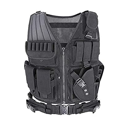 MGFLASHFORCE Tactical CS Field Vest Breathable Adjustable Combat Training Vest