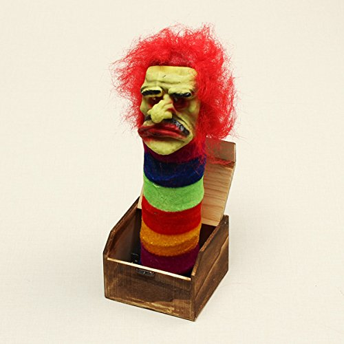 New Halloween Wooden Box Horror Trick Prank Electric Voice Activated Toy