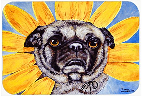 Carolines Treasures AMB1058JCMT Sunflower Pug Kitchen or Bath Mat 24x36 multicolor 24H X 36W