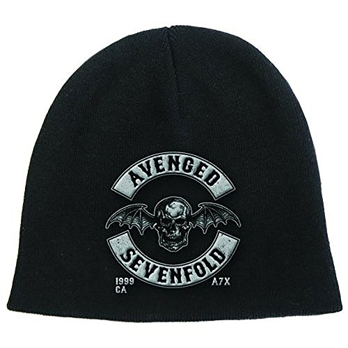 Avenged Sevenfold Wings (Avenged Sevenfold Death Bat Wings Logo Adult Beanie Knit Hat Cap)
