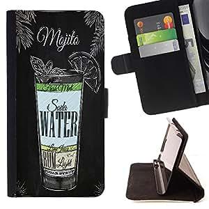 King Case - FOR Apple Iphone 4 / 4S - to bear defeat - Prima caja de la PU billetera de cuero con ranuras para tarjetas, efectivo Compartimiento desmontable y correa para la mu?eca