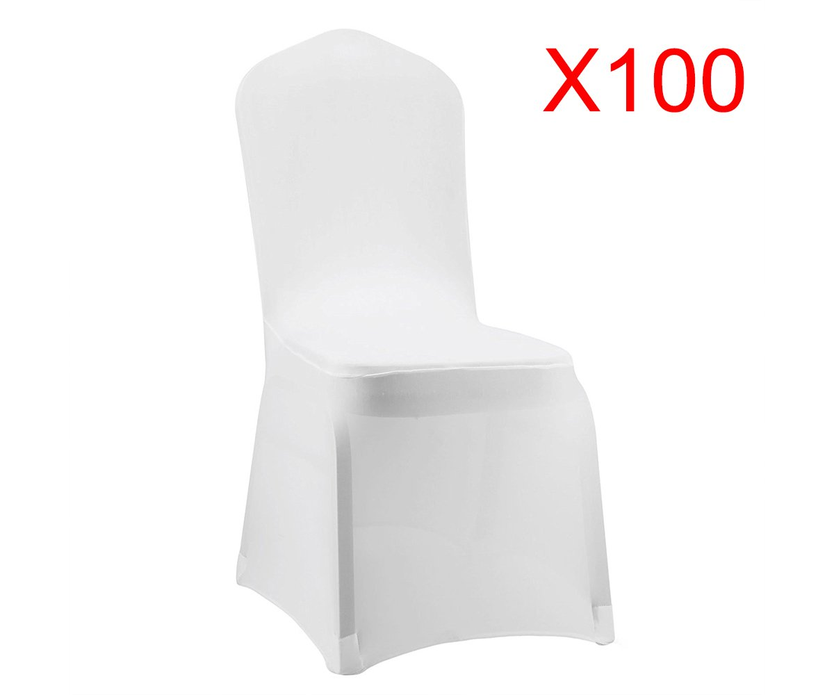Boshen Set of 1/10/20/50/100 Pcs Hotel Banquet Dining Spandex Chair Covers (100 Pcs, Style 1) by Boshen
