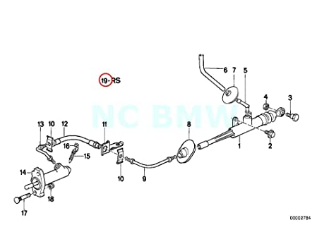 Original de BMW E23 E28 E30 salida Kit de reparación de cilindro esclavo embrague OEM 21521158849