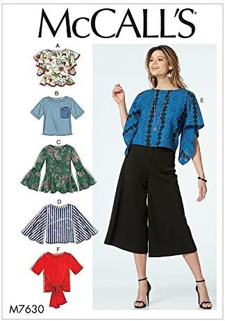 McCalls Pattern 7361 Top with pleat side detail New Size 6-14 or 14-22