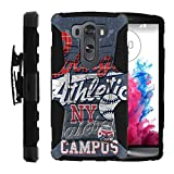 MINITURTLE Case Compatible w/ LG V10 | [Clip Armor] Impact Hard Rubber Durable Unique Creative Cover + Belt Clip Blue College Sports
