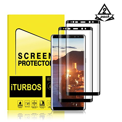 Galaxy Note 8 Screen Protector,iTURBOS full screen 3D screen protector film for Samsung Galaxy Note 8 [2 Pack]