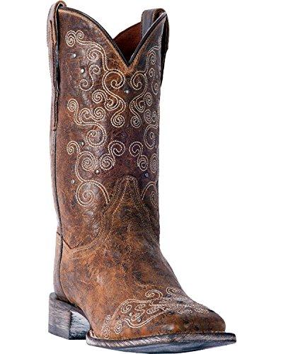 Dan Brown Post Toe Swirlz Cowgirl Square Dp4031 Boot Women's STxwqCPS