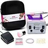 Nail Drill Machine, NATPLUS Professional 30000 RPM Electric Manicure Drill E-file with Nail