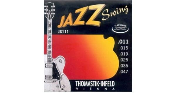Amazon.com: CUERDAS GUITARRA ELECTRICA - Thomastik (JS/111) Jazz Swing (Juego Completo 011/047): Musical Instruments