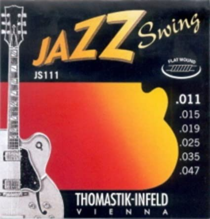 Amazon.com: CUERDAS GUITARRA ELECTRICA - Thomastik (JS/111) Jazz Swing (Juego Completo 011/047): Musical Instruments