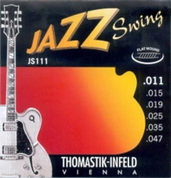 CUERDAS GUITARRA ELECTRICA - Thomastik (JS/111) Jazz Swing (Juego Completo 011/047): Amazon.es: Instrumentos musicales