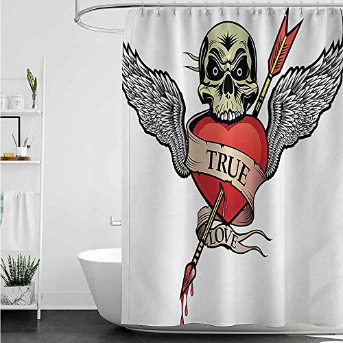 Superman Tattoo With Angel Wings - Shower Curtain with Hooks,Tattoo Angel Wings