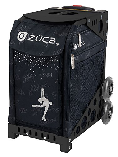 ZUCA Ice Queen Sport Bag & Frame (Black) w/Flashing Wheels