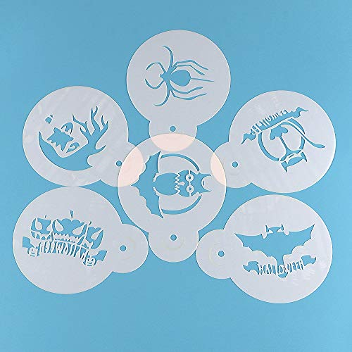 1 lot Facemile 6PCS Halloween Stencil Witch Spider