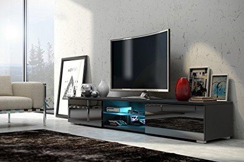 TV Schrank Nessy (schwarz matt / glänzend schwarz)