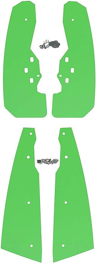 Set of 4 XL Mud Edition, Orange Front and Rear RokBlokz Mud Flaps for Polaris RZR XP 1000 - Multiple Colors Fender Flares fit 1000XP XP4 Not S Models