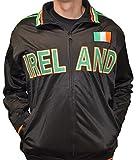 Amdesco Ireland Full Zip Sport Track Jacket, Black 2XL