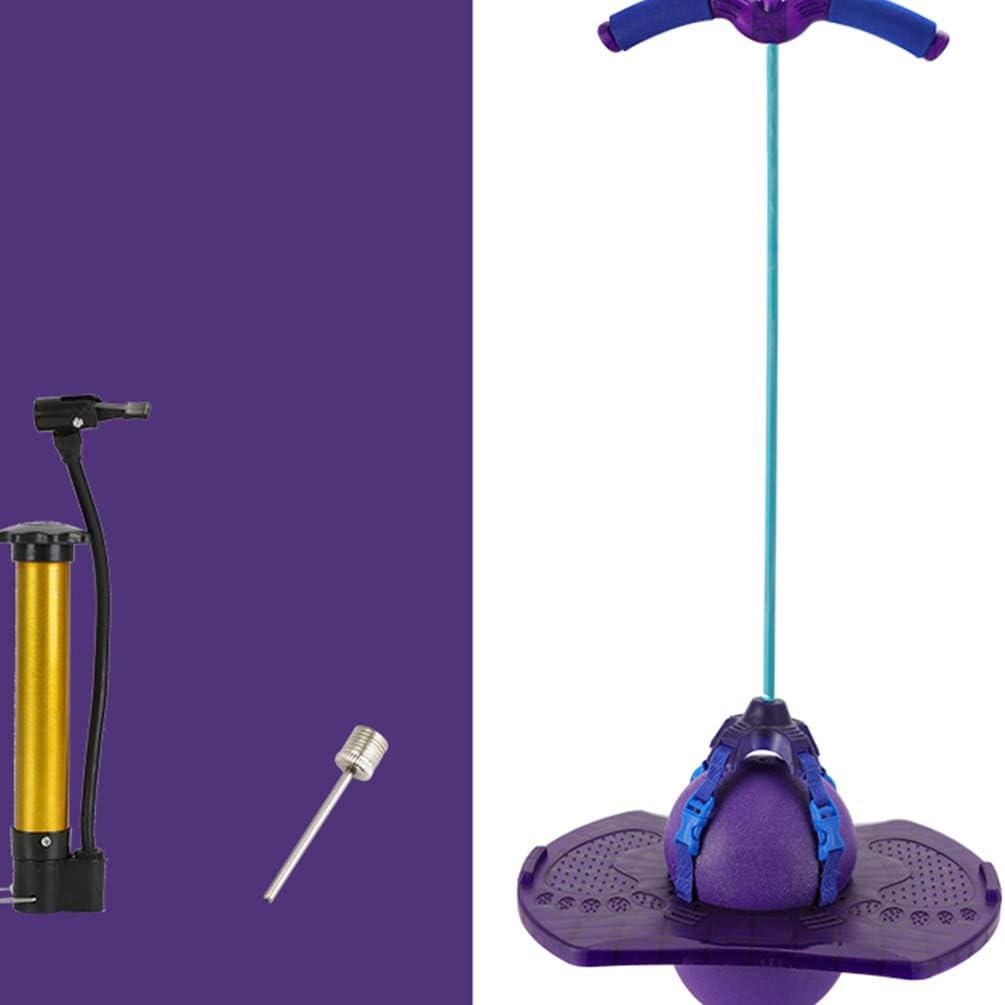 STOBOK Pogo Jumper Pogo Stick Pogo Hopper con Bola Salto Truco Tablero de Rebote con Bomba Bola de Salto con Mango Juego Deportivo Accesorios de Ejercicio Regalo para Ni/ños P/úrpura