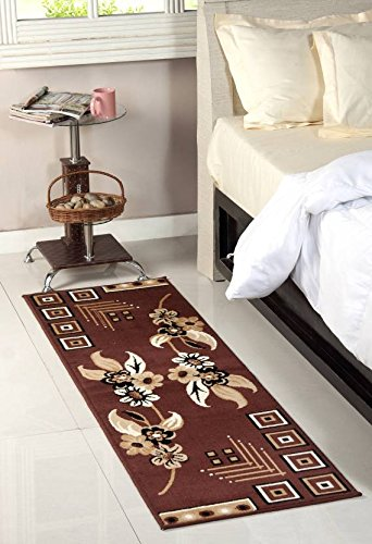Tradeblush Long Carpet \ Rugs Rug/Passage/ Bedside Runner\ Abstract \ Floral Design Soft Patter Luxury Royal Look contribute interiror \ Bed Room Sofa Room Dining Hall Size 50X150